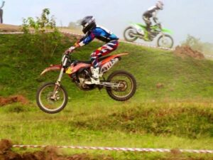 Uganda motocross team captain Maxim Van Pee
