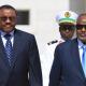 Ethiopian Prime Minister, Hailemariam Desalegn with Djibouti President, Ismaïl Omar Guelleh.