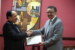 Ambassador of Mauritania and Dr. Tedros