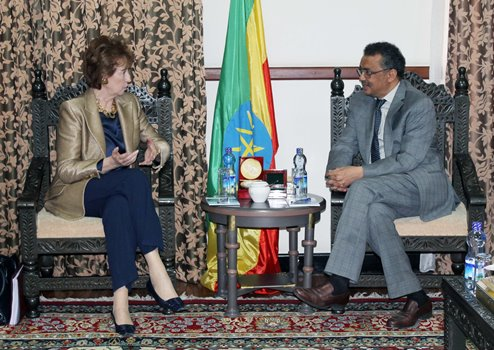 Dr. Tedros receives Italian investor and the Chairperson of E4Impact Foundation