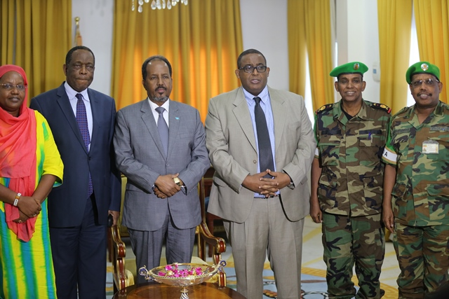 IB0A1291 Somalia: President received delegation of Security Officials from US.