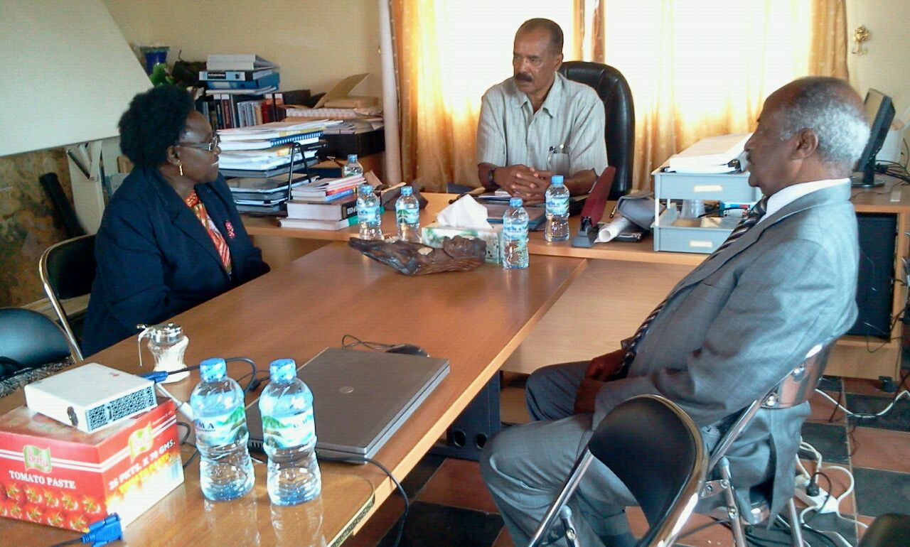 Uganda's Special Envoy, Hon. Cecilia Ogwal, has today met the Eritrean President Isaias Afwerki