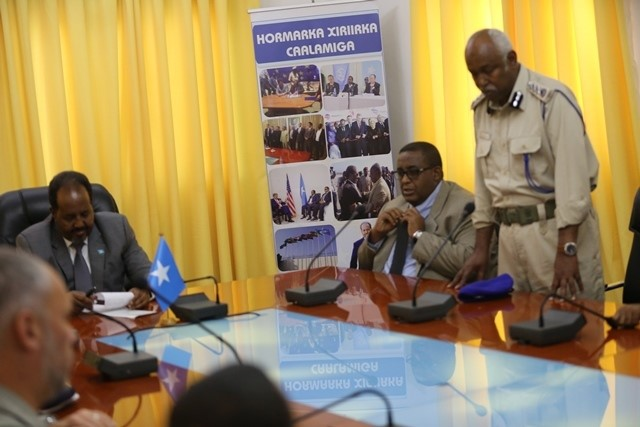 somalia press 3 Somalia: President received delegation of Security Officials from US.
