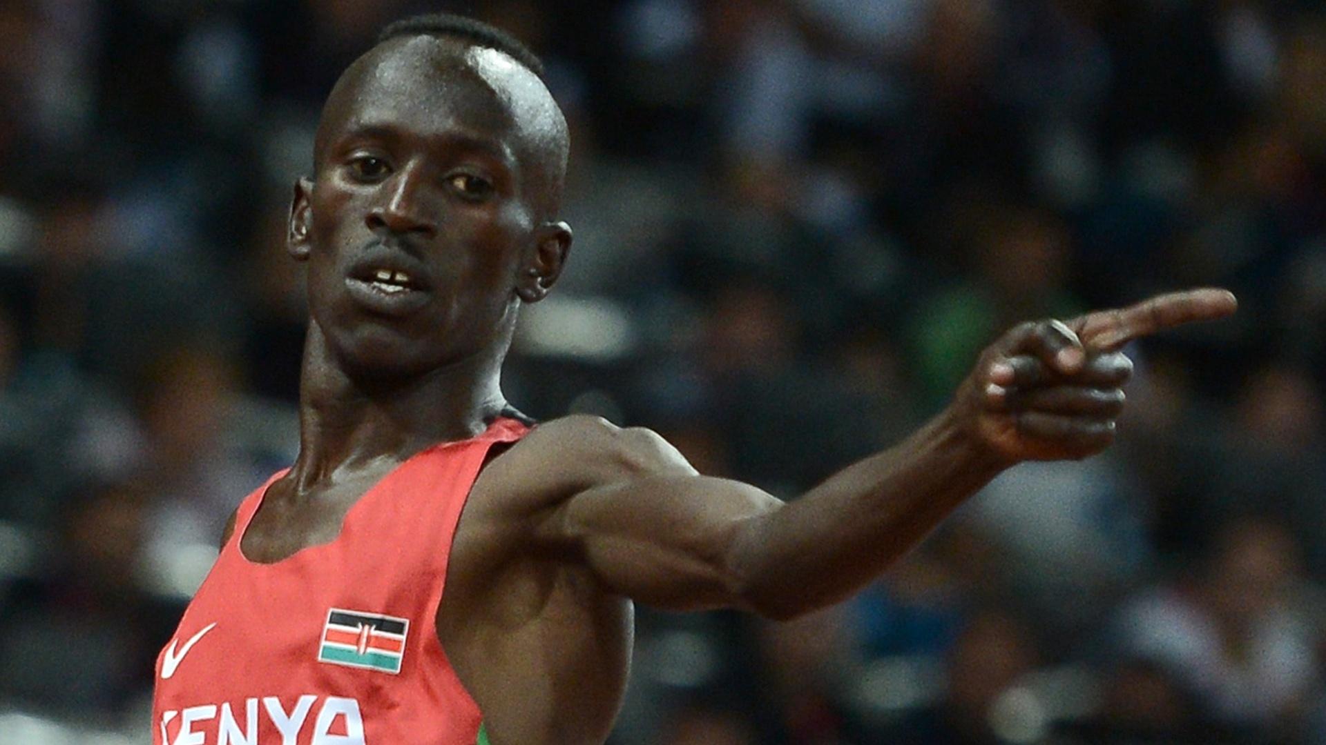 queniano ezekiel kemboi comemora apos vencer Homepage - Newsmag