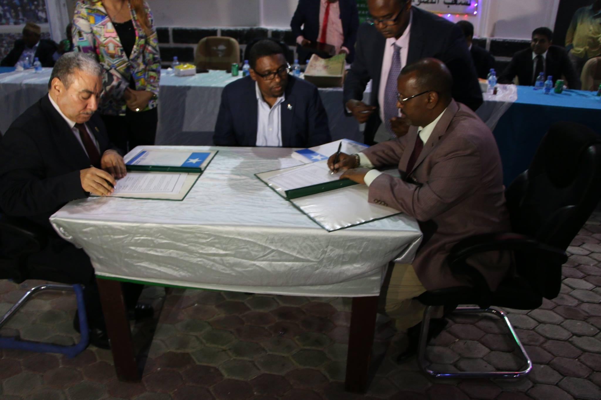 somalia chamber of commerce Egyption Chamber of Commerce sign MOU with Somali Chamber of Commerce