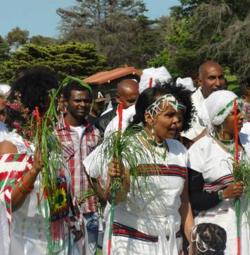 Tens of thousands of Ethiopians gathered in upbeat mood for the annual festival of the Oromo people, the biggest ethnic group in the country, a year after the event turned into an anti-government protest