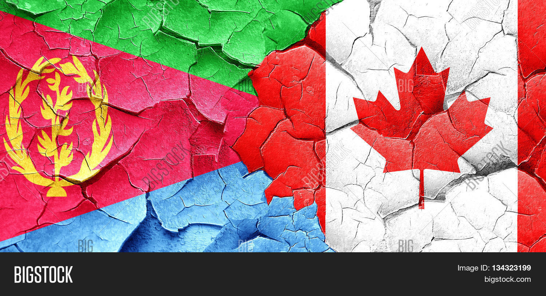 canada Eritrea flags Homepage - Loop