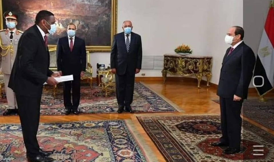 Ethiopian Ambassador to Egypt Presents Credentials to President El-Sisi