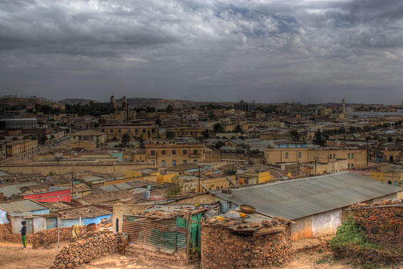 asmara city view Eritrea: A Suburb in Parts of Asmara