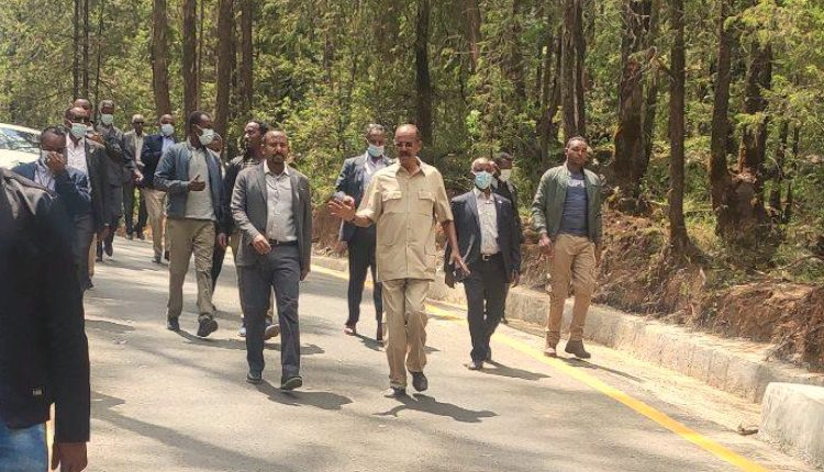 Eritrean President Isaias Visiting Entoto Natural Park