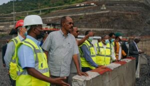 President Isaias Pay A Visit To Koysha Hydroelectric Dam