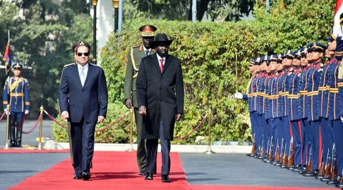 President el-Sisi arrives in Juba