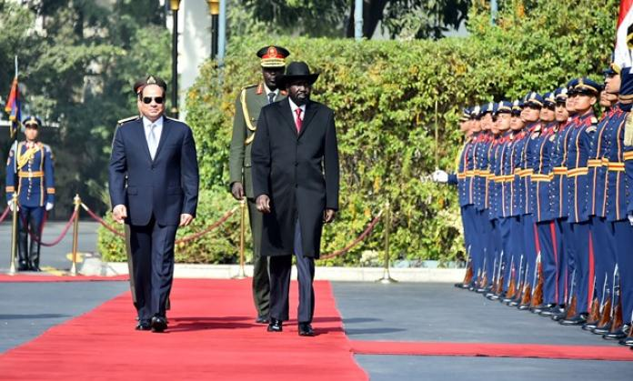 President el-Sisi arrives in Juba