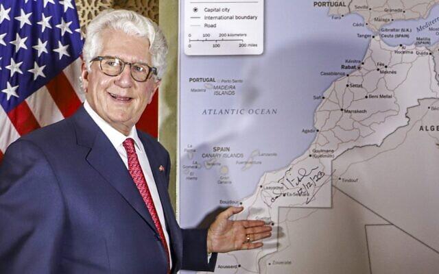 David Fischer, the US ambassador to Morocco,