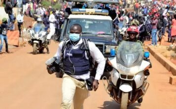 Ugandan government quells public unrest with violence.
