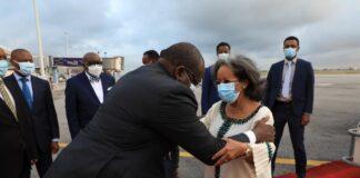President Sahle-Work Arrives In Abidjan, Cote D'Ivoire