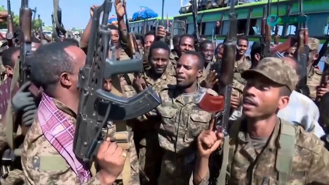 showing government soldiers Ethiopia