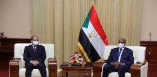 Chief General Abdel Fattah al-Burhan meets with Egyptian President Abdel Fattah al-Sisi, in Khartoum