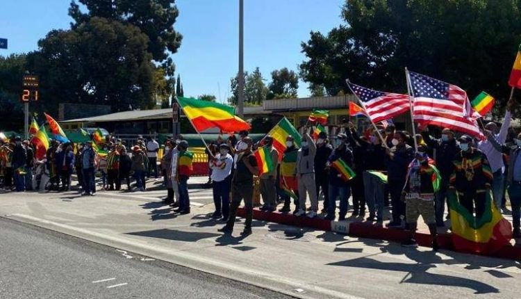 Ethiopians In Los Angeles Stage Rally