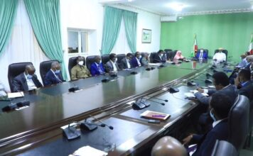 The President and The Vice President, Leaders of Political Parties, NEC, Chief Justice, Attorney General and several Government Ministers.