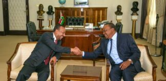 Uhuru Kenyatta with Ethiopian PM Abiy Ahmed