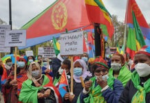 Peaceful rally eritrea