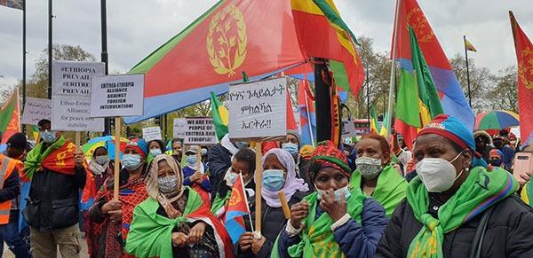Peaceful rally eritrea